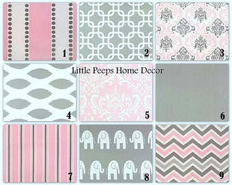 Popular items for pink grey pillow on etsy for Pink and grey nursery fabric