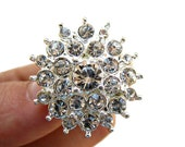 20 Starburst Rhinestone Buttons for Wedding Invitation Card Decoration Scrapbooking Garter RB-025 (26mm or 1 inch)