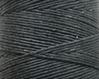 5 Yards of 6 ply Irish Waxed Linen Thread in Black