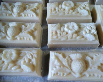 Peppermint Thistle & Flower Artisan Beer Soaps - Vegan - Handmade Soap