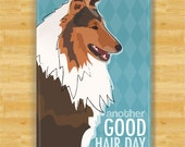 Collie Magnet - Another Good Hair Day - Collie Gifts Fridge Refrigerator Dog Magnets
