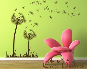 Dandelion vinyl wall decal,  Wall Sticker, removable wall decal decor sticker