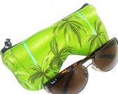 Curves Palm Tree Eyeglasses Pouch, Eye Glasses Case