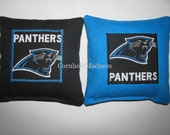 Carolina Panthers NFL Cornhole Bags Corn hole Corn Toss Baggo Set of 8
