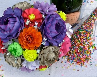 Wedding Bouquet - Paper Bouquet - Sprinkles Inspired - Customize your Style and Colors - Made To Order