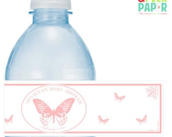 Butterfly Water Bottle Labels