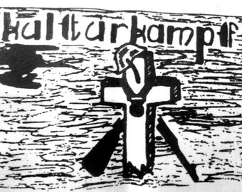 KulturKampf Anarcho Peace Punk Crass The Mob Patch