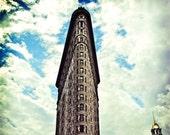 Flat Iron building. NYC photography. Lomo HDR. 8x10 print.