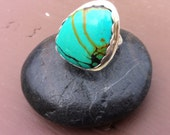 Chinese Turquoise Sterling Silver Ring
