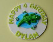 Fondant Crocodille/Alligator Cake Topper