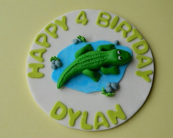 Fondant Crocodille/Alligator Cake Topper