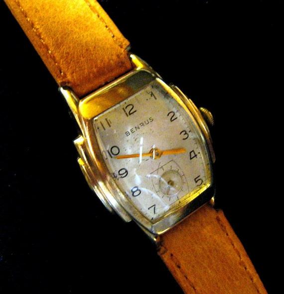 Benrus Art Deco Watch - 10K RGP - 1930's