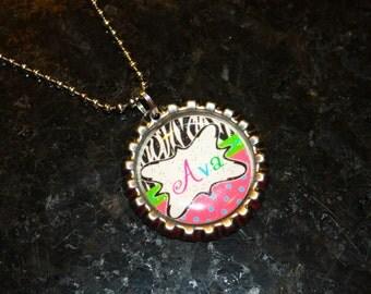 Zebra Multicolor  Personalized Bottle Cap necklace