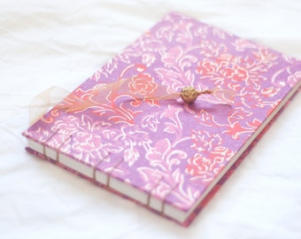 Red Pink Purple floral guest book boho gold fuchsia bright amethyst poppy neon rose lilac vintage style wedding album