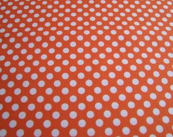 Orange Small Cotton Dots Fabric by the Yard Riley Blake Designs