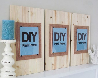 Set of 3 DIY Long and Large Plank Frames - 14x24 with 8x10 pictures