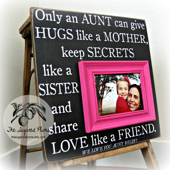 Aunt Gift Personalized Picture Frame 16x16 ONLY AN AUNT First Birthday ...