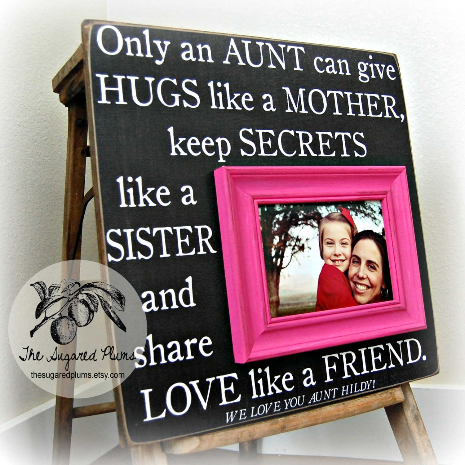 Unique Wedding Gift Ideas For Niece : Aunt Gift Personalized Picture Frame 16x16 ONLY AN AUNT First