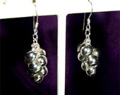Grapes or Balls DANGLE Earrings in STERLING Silver