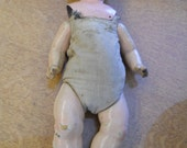 Antique Doll Minerva Buschow & Beck Germany Tin Head 4 1/2  Intact Limbs Body