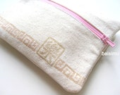 Multi-purpose zipped purse, handprinted with happiness