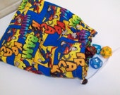 Lined Superman Dice Bag