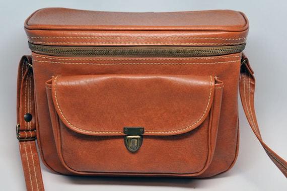 HINSON Mfg VINTAGE BROWN Camera Bag