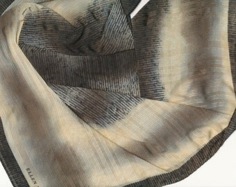 SALE Moss Green Silk Scarf Ellen Tracy