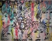 Beatles Revolver Original Art Greeting Card