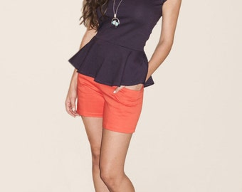Kat Side Pocket Short - Shorts With Exposed Zipper
