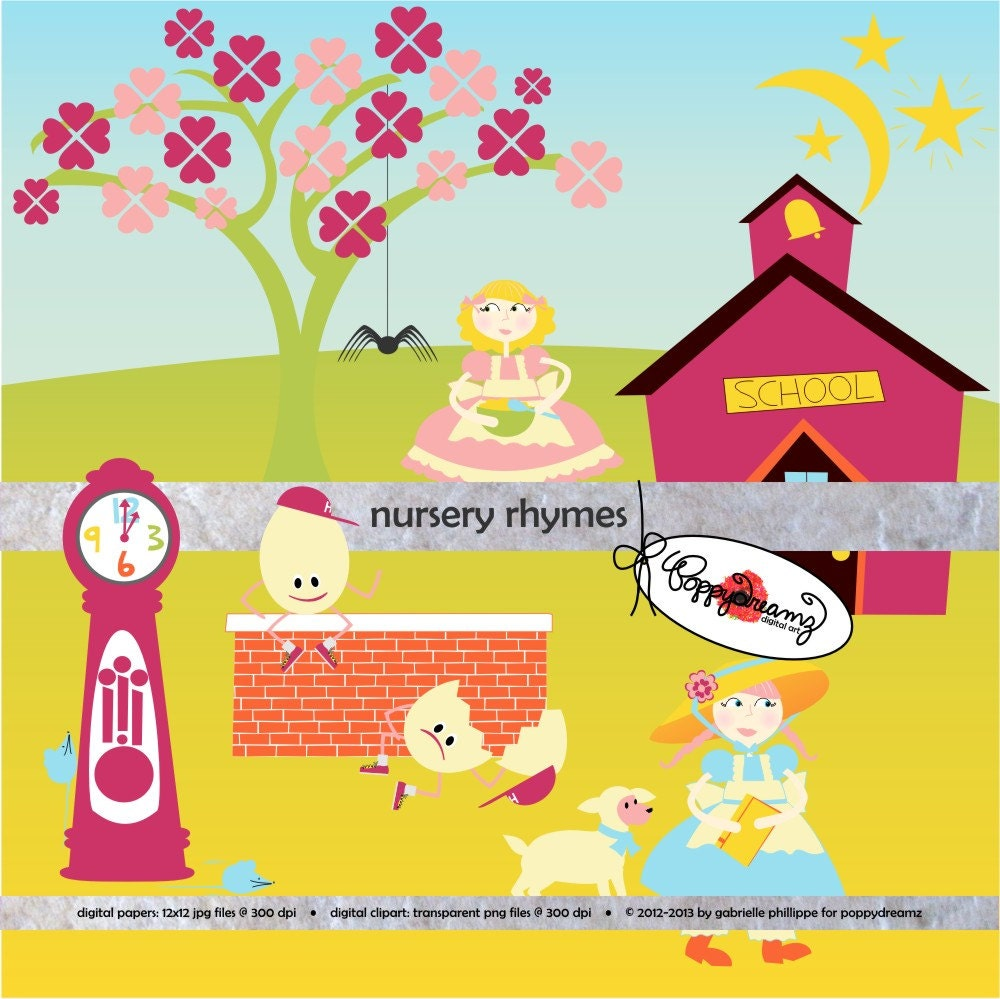 free clipart images nursery rhymes - photo #7