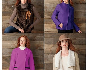Pattern Ladies Jackets and Vests - Sizes 16 to 24 - Simplicity 1758