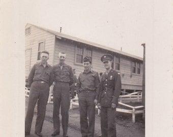 Four Soldiers - Vintage Photograph, Vernacular, Ephemera, Military Photo  (PP)