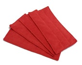 Swiffer Wet Jet Pads- Set of 2- RED- Microfiber- Refill- Reusable- Ecofriendly