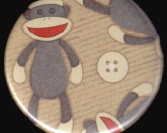 Sock Monkey Love Button