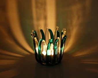 Tealight Candle Holder Green
