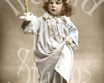 Ready For Bed-French Postcard Digital Download