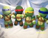 Crochet Teenage Mutant Ninja Turtle crochet turtle