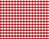 ON SALE 1 yard Riley Blake Small Red Gingham C440-80