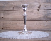 Gorgeous Vintage Silver Plate Candle Holder