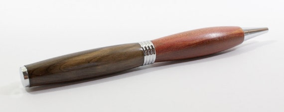 Redheart / Bolivian Rosewood Roadster Pen with Chrome Accents and Gift Box