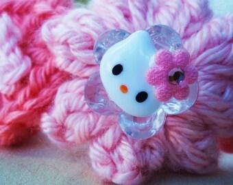 Pink Hello Kitty Crocheted Headband