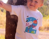 Boys Short Sleeve Personalized Bug Birthday Shirt