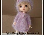 Instant Download PDF Pattern for Two Knitted Dresses and Berets for Lati Yellow and Pukifee