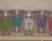 SET OF SEVEN - Personalized Tumblers with Straw