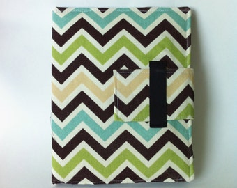 iPad Case - Fits all generations.  Folding cover or stand in Modern Chevron