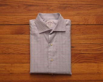mens Brooks Brothers Prince of Wales check shirt