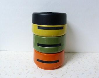 Vintage Stacking Canister Set Or Stacking Snack Bowl Set Mod Modern