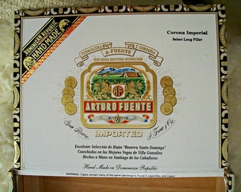 Cigar Box for crafting, purses, supplies  - ARTURO FUENTE - Corona Imperial - Empty Cigar Box