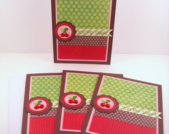 Set of 4 You're Sweet Cards